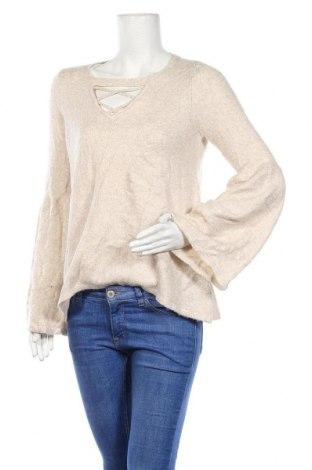 Дамски пуловер American Eagle, Размер M, Цвят Бежов, 65% акрил, 30% полиамид, 5% еластан, Цена 31,92лв.