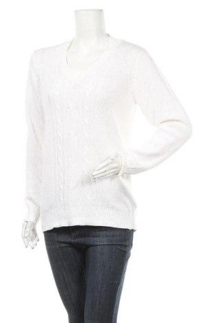 Дамски пуловер Blue Motion, Размер M, Цвят Бял, 50% памук, 50% акрил, Цена 23,94лв.