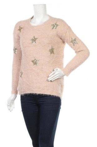 Дамски пуловер Buch, Размер M, Цвят Розов, 70% полиестер, 20% акрил, 10% вълна, Цена 22,94лв.