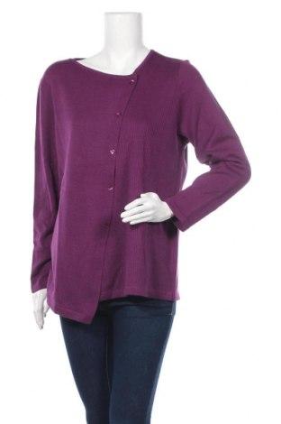 Дамски пуловер Carmen, Размер L, Цвят Лилав, 50% памук, 50% полиакрил, Цена 17,01лв.