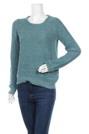Дамски пуловер Edc By Esprit, Размер L, Цвят Син, 49% акрил, 47% памук, 4% метални нишки, Цена 19,11лв.