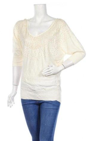 Дамски пуловер Elle, Размер S, Цвят Бял, 60% памук, 40% вискоза, Цена 11,81лв.