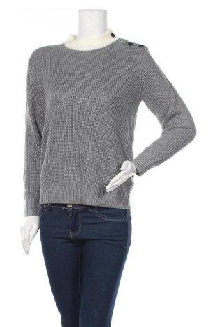 Дамски пуловер FRNCH, Размер L, Цвят Сив, Акрил, Цена 46,50лв.
