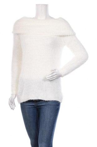 Γυναικείο πουλόβερ Famous, Μέγεθος S, Χρώμα Λευκό, 100%ακρυλικό, Τιμή 16,45€