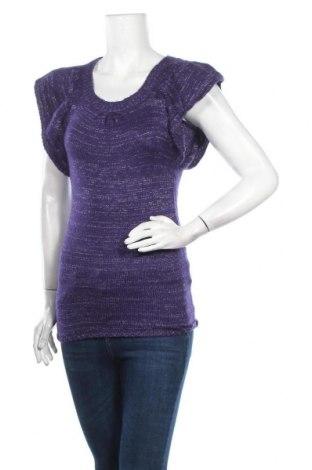 Γυναικείο πουλόβερ G 21, Μέγεθος XS, Χρώμα Βιολετί, 90%ακρυλικό, 10% μεταλλικά νήματα, Τιμή 7,50€