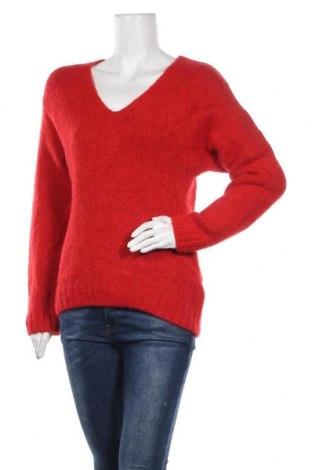 Дамски пуловер H&M, Размер XS, Цвят Червен, 40% акрил, 25% вълна, 23% полиамид, 10% вълна, 2% еластан, Цена 20,95лв.