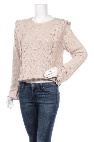 Дамски пуловер H&M Divided, Размер L, Цвят Бежов, Полиестер, Цена 39,27лв.