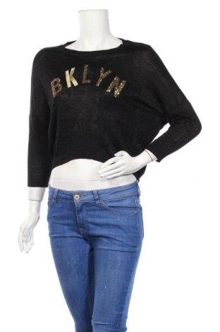 Дамски пуловер Jennyfer, Размер S, Цвят Черен, 88% вискоза, 6% метални нишки, 6% полиестер, Цена 42,00лв.