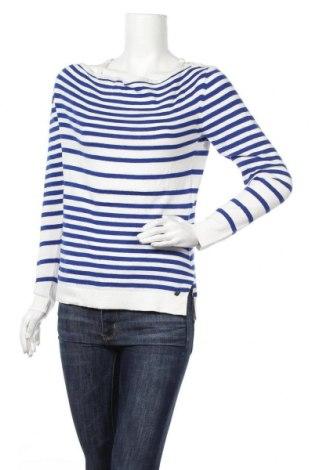 Дамски пуловер Le Phare De La Baleine, Размер M, Цвят Син, 90% памук, 10% кашмир, Цена 33,04лв.