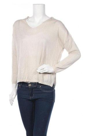 Дамски пуловер Mango, Размер M, Цвят Бежов, 86% вискоза, 9% полиестер, 5% метални нишки, Цена 44,25лв.