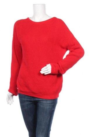 Дамски пуловер Na-Kd, Размер S, Цвят Червен, 50% памук, 50% акрил, Цена 18,27лв.