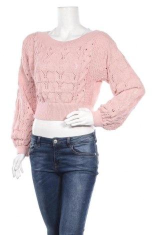 Дамски пуловер Nasty Gal, Размер M, Цвят Розов, Акрил, Цена 26,93лв.