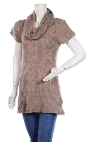 Дамски пуловер One Love, Размер L, Цвят Кафяв, Акрил, Цена 6,04лв.