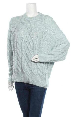 Дамски пуловер Pull&Bear, Размер M, Цвят Син, 80% акрил, 20% полиестер, Цена 29,12лв.