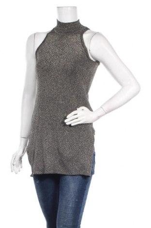 Дамски пуловер Springfield, Размер M, Цвят Златист, 74% памук, 17% полиестер, 9% метални нишки, Цена 10,58лв.