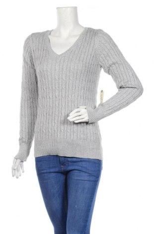 Дамски пуловер St. John's Bay, Размер M, Цвят Сив, 80% памук, 11% полиамид, 6% полиестер, 3% други материали, Цена 25,41лв.