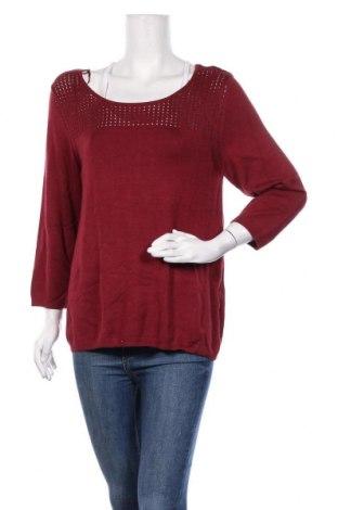 Дамски пуловер Un Deux Trois, Размер L, Цвят Червен, 90% вискоза, 10% полиамид, Цена 57,77лв.