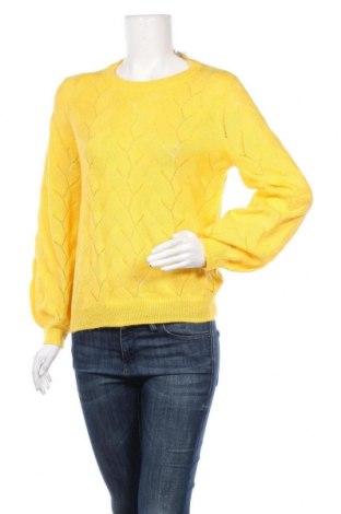 Дамски пуловер Vero Moda, Размер L, Цвят Жълт, 56% акрил, 26% памук, 18% полиестер, Цена 48,88лв.