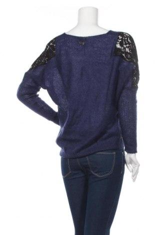 Дамски пуловер Women Dept, Размер S, Цвят Син, 45% мохер, 30% полиамид, 25% акрил, Цена 51,75лв.
