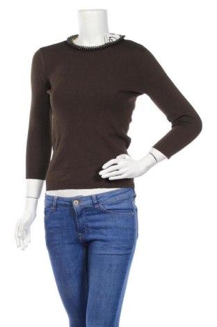Дамски пуловер Zara Knitwear, Размер S, Цвят Зелен, Цена 12,54лв.
