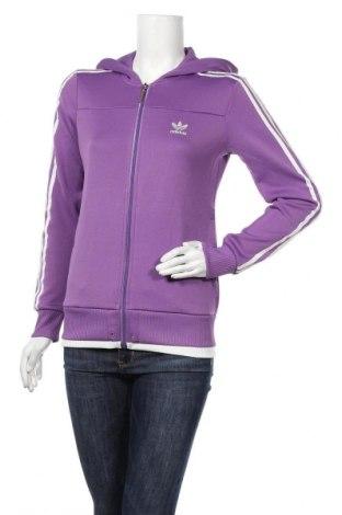 Γυναικείο φούτερ Adidas, Μέγεθος M, Χρώμα Βιολετί, 87% πολυεστέρας, 13% βαμβάκι, Τιμή 18,58€