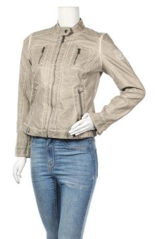 Дамско кожено яке, Размер M, Цвят Бежов, Еко кожа, Цена 15,07лв.