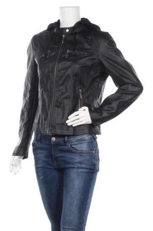 Дамско кожено яке, Размер L, Цвят Черен, Еко кожа, Цена 38,75лв.