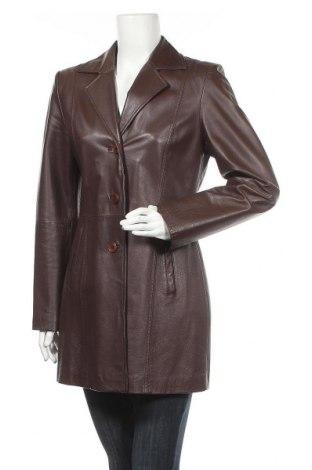 Дамско кожено яке Laura Scott, Размер M, Цвят Кафяв, Естествена кожа, Цена 61,74лв.