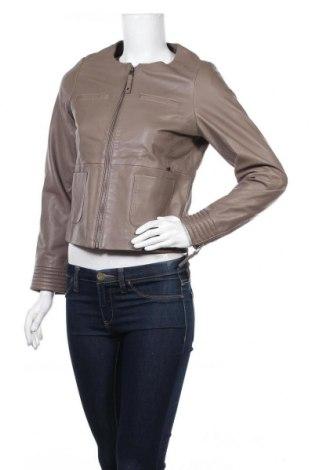 Дамско кожено яке Le Phare De La Baleine, Размер S, Цвят Сив, Естествена кожа, Цена 137,97лв.