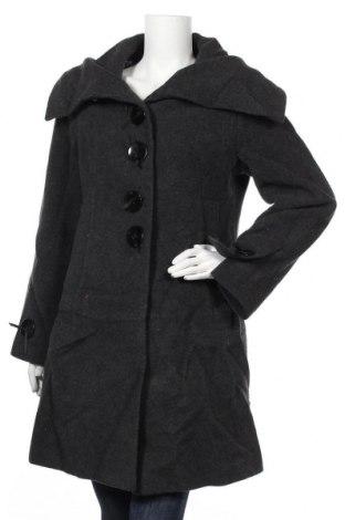 Дамско палто, Размер L, Цвят Сив, 60% вълна, 30% полиамид, 10% полиестер, Цена 55,86лв.