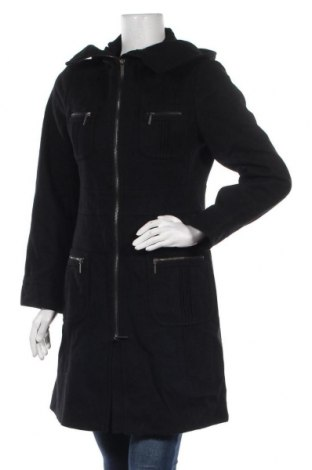 Дамско палто Calvin Klein, Размер S, Цвят Черен, 60% вълна, 25% полиестер, 10% вискоза, 5% други материали, Цена 49,98лв.