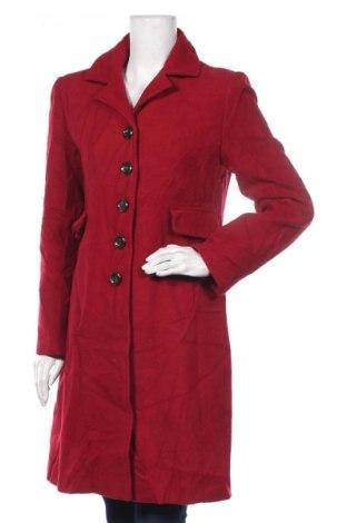 Дамско палто Calvin Klein, Размер S, Цвят Червен, 60% вълна, 35% полиестер, 5% други материали, Цена 70,88лв.