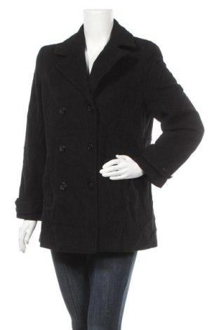 Дамско палто Eddie Bauer, Размер M, Цвят Черен, 60% вълна, 20% полиамид, 20% кашмир, Цена 12,86лв.