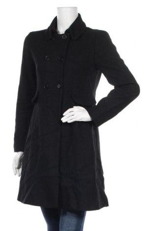 Γυναικείο παλτό Hallhuber, Μέγεθος M, Χρώμα Μαύρο, 75% μαλλί, 25% πολυαμίδη, Τιμή 14,94€