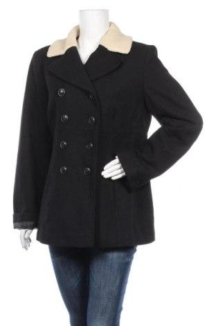 Дамско палто Le Phare De La Baleine, Размер L, Цвят Черен, 80% вълна, 20% полиамид, Цена 71,06лв.