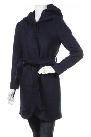 Γυναικείο παλτό Mint & Berry, Μέγεθος XS, Χρώμα Μπλέ, 50% μαλλί, 50% πολυεστέρας, Τιμή 53,74€