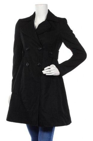Дамско палто Moda International, Размер M, Цвят Черен, 47% вълна, 26% полиестер, 13% памук, 7% акрил, 7% вискоза, Цена 51,87лв.