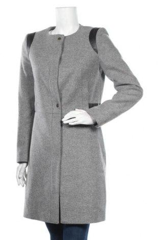 Дамско палто Naf Naf, Размер M, Цвят Сив, 80% вълна, 20% полиамид, Цена 42,84лв.