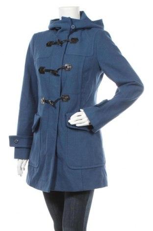 Дамско палто United Colors Of Benetton, Размер M, Цвят Син, 60% вълна, 30% полиестер, 10% вискоза, Цена 49,14лв.