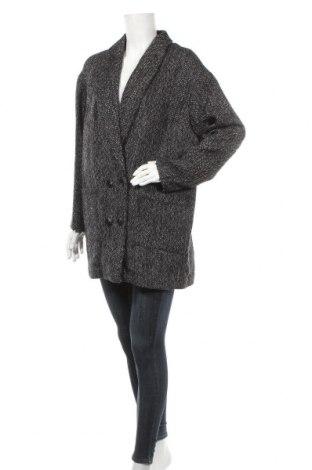 Дамско палто Violeta by Mango, Размер L, Цвят Черен, 80% полиестер, 20% вълна, Цена 78,00лв.