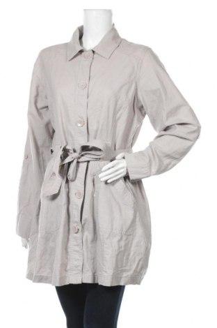 Дамско палто Waikiki, Размер XL, Цвят Сив, 51% лен, 49% памук, Цена 22,05лв.