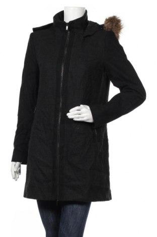 Дамско палто William Rast, Размер M, Цвят Черен, 55% полиестер, 40% вълна, 5% други нишки, Цена 16,54лв.