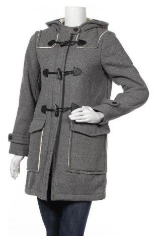 Дамско палто Zara, Размер M, Цвят Сив, 50% вълна, 50% полиестер, Цена 69,30лв.