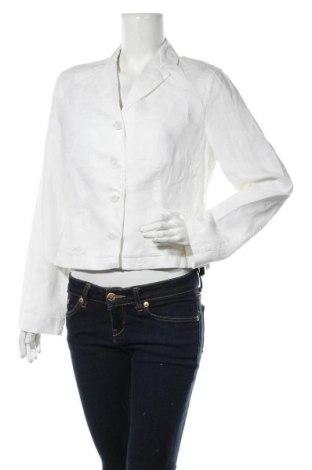 Дамско сако Betty Barclay, Размер L, Цвят Бял, Лен, Цена 36,86лв.