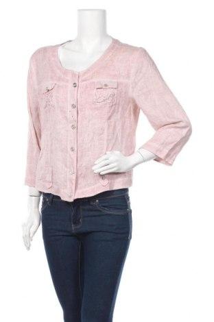 Дамско сако Bottega, Размер L, Цвят Розов, Лен, Цена 12,71лв.