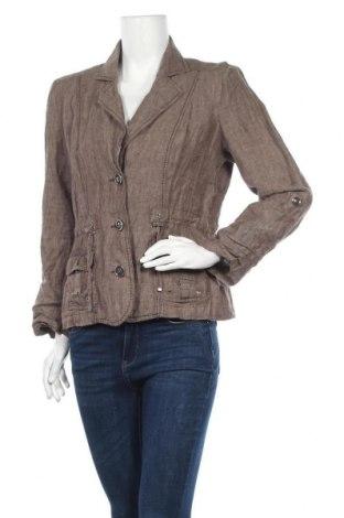 Дамско сако Canda, Размер L, Цвят Кафяв, 100% лен, Цена 16,17лв.