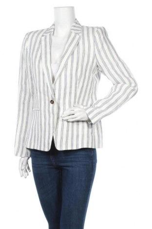 Дамско сако Caroll, Размер L, Цвят Бял, Лен, Цена 125,95лв.