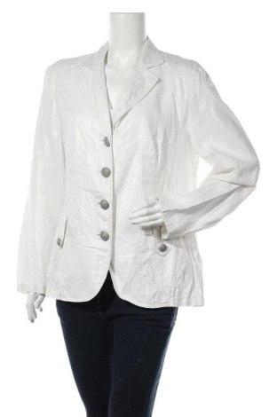 Дамско сако Gerry Weber, Размер XL, Цвят Бял, Лен, Цена 119,40лв.