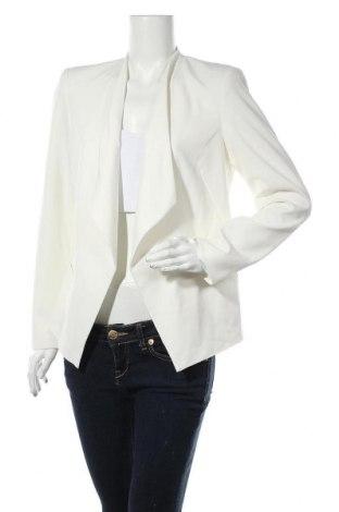 Γυναικείο σακάκι Kiomi, Μέγεθος L, Χρώμα Λευκό, 68% πολυεστέρας, 28% βισκόζη, 4% ελαστάνη, Τιμή 18,18€