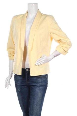 Дамско сако Miss Selfridge, Размер XL, Цвят Жълт, 77% полиестер, 20% вискоза, 3% еластан, Цена 39,06лв.